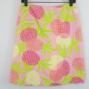 Lilly Pulitzer pink print cotton a-line skirt 6